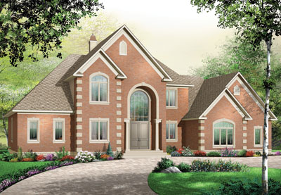European Style Home Design Plan: 5-673