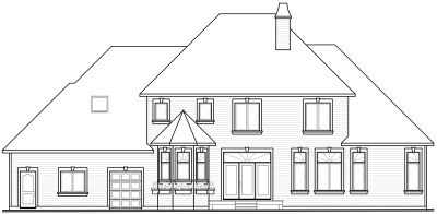Rear Elevation Plan: 5-673