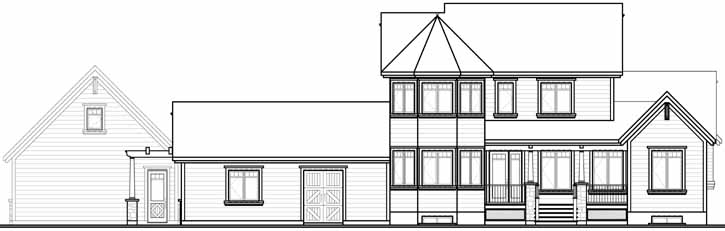 Rear Elevation Plan: 5-675