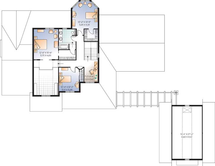 Upper/Second Floor Plan: 5-675
