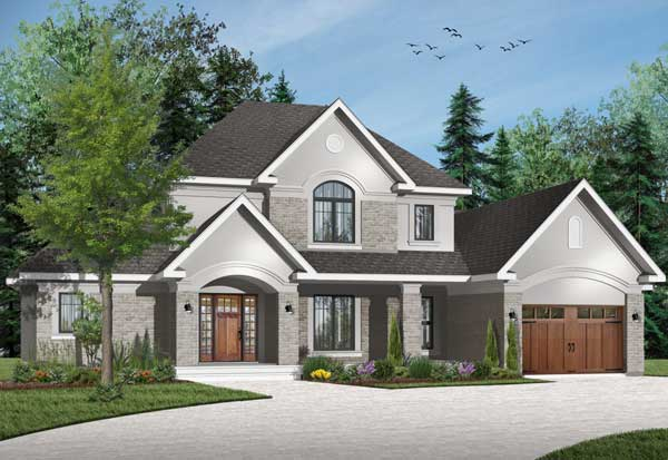 Traditional Style Home Design Plan: 5-676