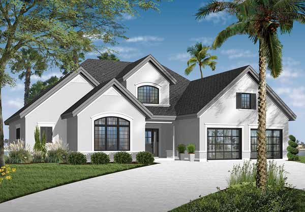 Traditional Style Home Design Plan: 5-678