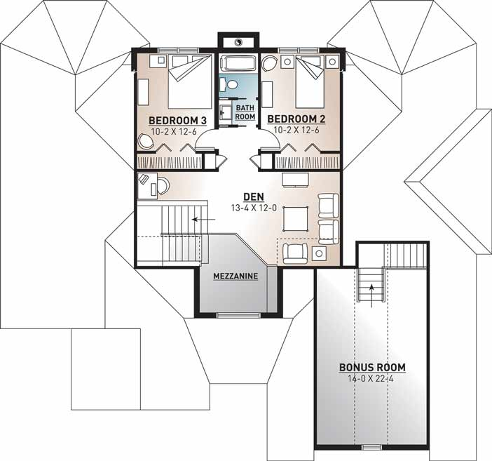 Upper/Second Floor Plan: 5-678