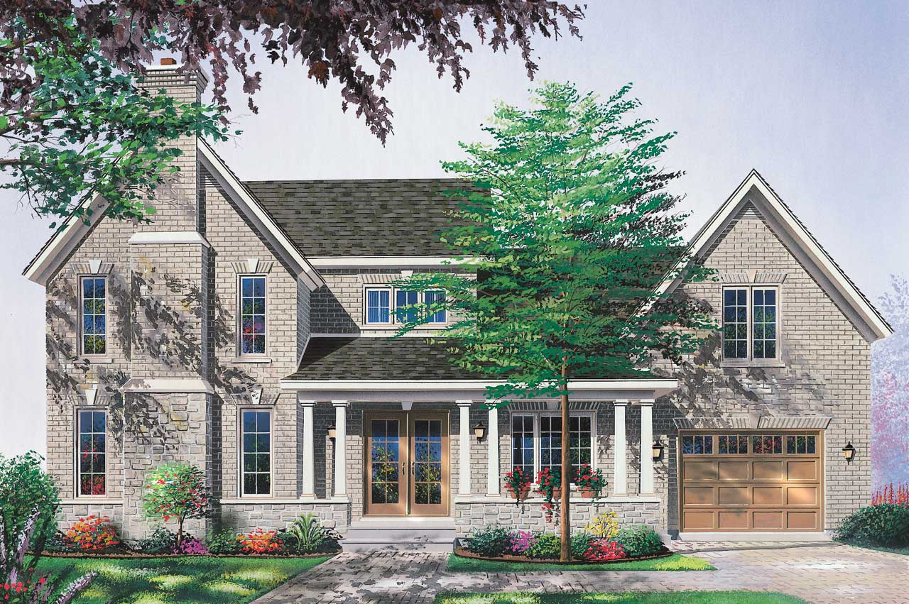 Country Style Floor Plans Plan: 5-680