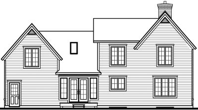 Rear Elevation Plan: 5-680