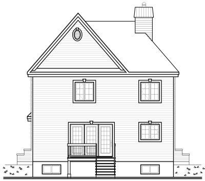 Rear Elevation Plan: 5-685