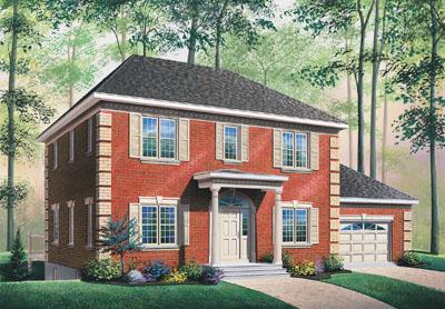 European Style Home Design Plan: 5-686