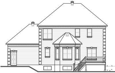 Rear Elevation Plan: 5-686