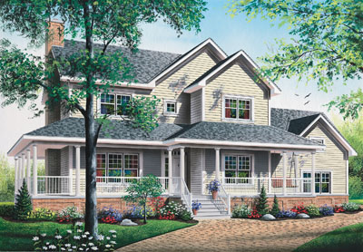 Country Style Floor Plans Plan: 5-688