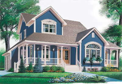 Country Style Floor Plans Plan: 5-689