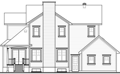 Rear Elevation Plan: 5-689
