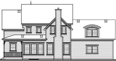 Rear Elevation Plan: 5-690