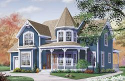 Victorian Style Home Design Plan: 5-690