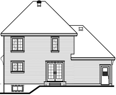 Rear Elevation Plan: 5-691