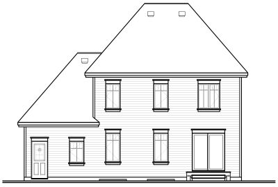 Rear Elevation Plan: 5-692