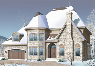 European Style House Plans Plan: 5-693