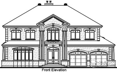 Rear Elevation Plan: 5-694