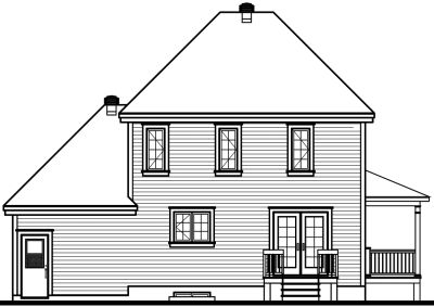 Rear Elevation Plan: 5-695