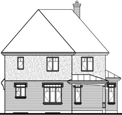 Rear Elevation Plan: 5-696