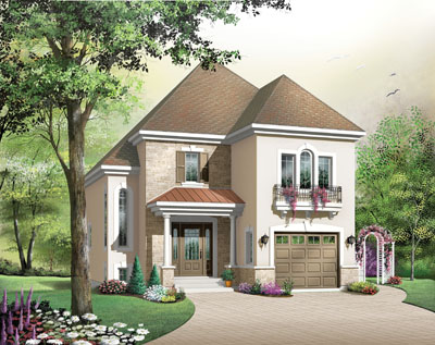 French-country Style Floor Plans Plan: 5-697