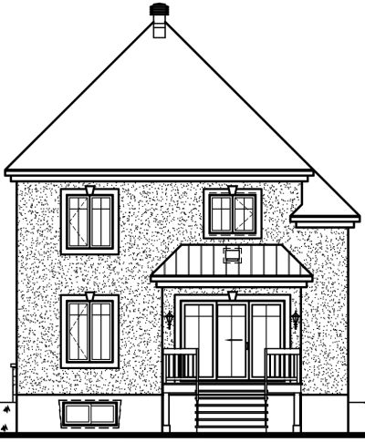 Rear Elevation Plan: 5-697