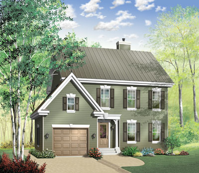 Colonial Style House Plans Plan: 5-698