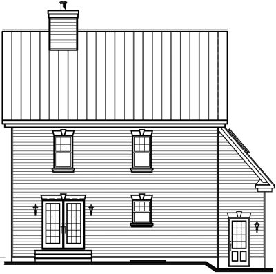 Rear Elevation Plan: 5-698