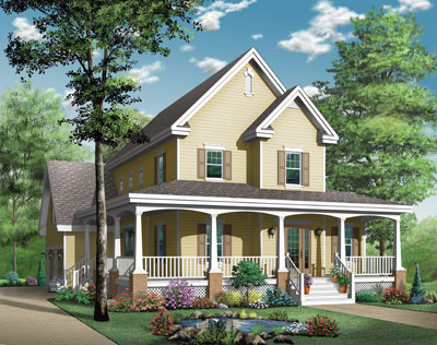 Country Style Home Design Plan: 5-699