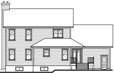 Rear Elevation Plan: 5-700