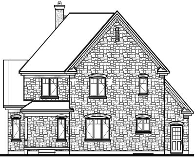 Rear Elevation Plan: 5-701