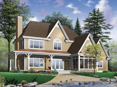 Traditional Style Home Design Plan: 5-702