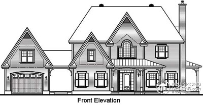 Rear Elevation Plan: 5-702