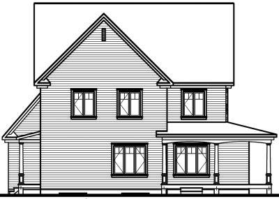 Rear Elevation Plan: 5-703