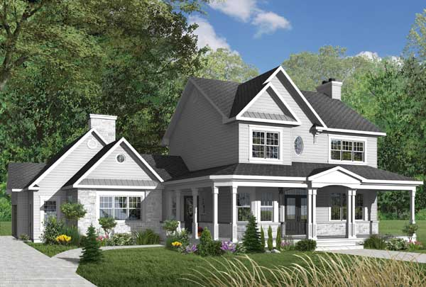 Farm Style House Plans Plan: 5-704