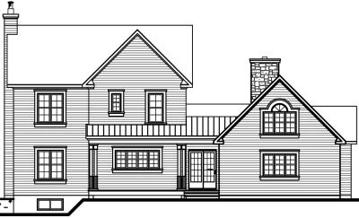 Rear Elevation Plan: 5-704