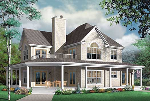 Country Style Floor Plans Plan: 5-705