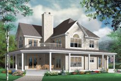 Country Style Home Design Plan: 5-705