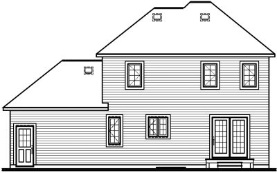 Rear Elevation Plan: 5-707
