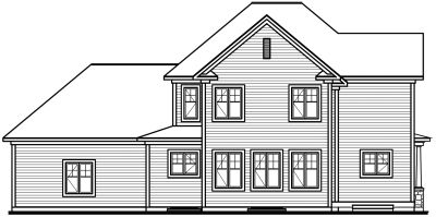 Rear Elevation Plan: 5-708