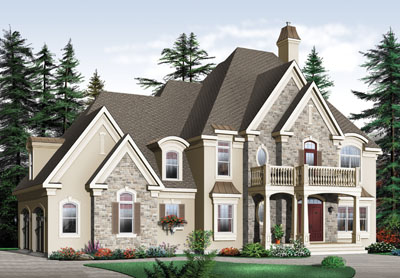 French-country Style Home Design Plan: 5-710