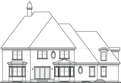 Rear Elevation Plan: 5-710