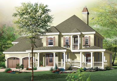 Country Style Home Design Plan: 5-711