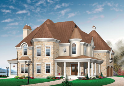 European Style Floor Plans Plan: 5-713