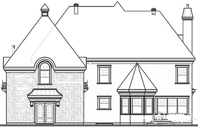 Rear Elevation Plan: 5-713