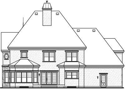 Rear Elevation Plan: 5-714