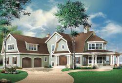 Hampton Style Home Design Plan: 5-716