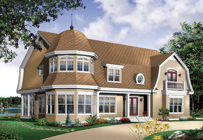Hampton Style Home Design Plan: 5-717