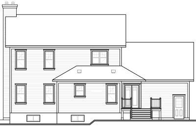 Rear Elevation Plan: 5-718