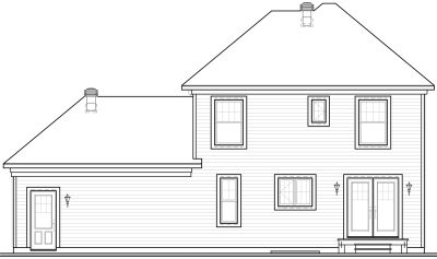 Rear Elevation Plan: 5-719