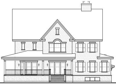 Rear Elevation Plan: 5-720